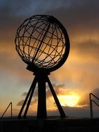 north cape monument globe norway