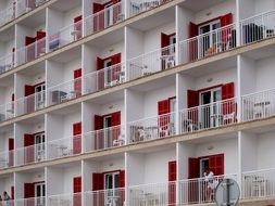 Picture of balconies on a hotel
