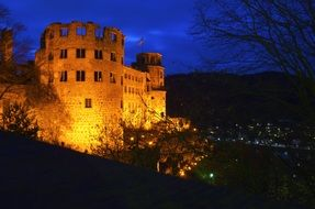 heidelberg castle lighting