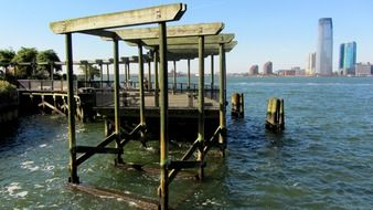 wooden pier in New York