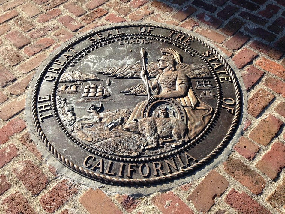california great seal landmark, usa, monterey