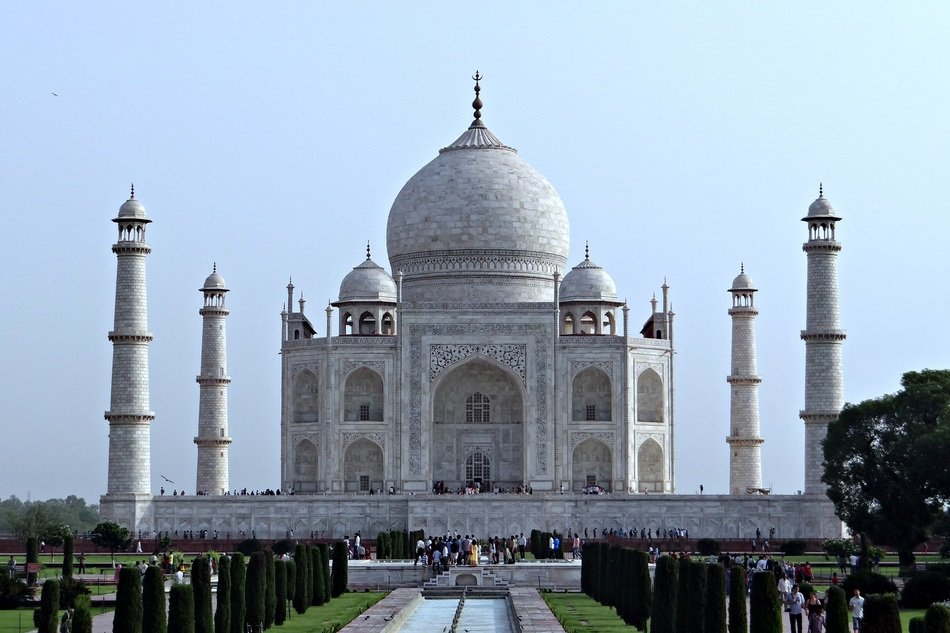Taj Mahal - the mausoleum of mosque located in Agra India