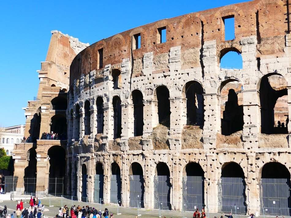 antiquity architecture colosseum rome amphitheater italy