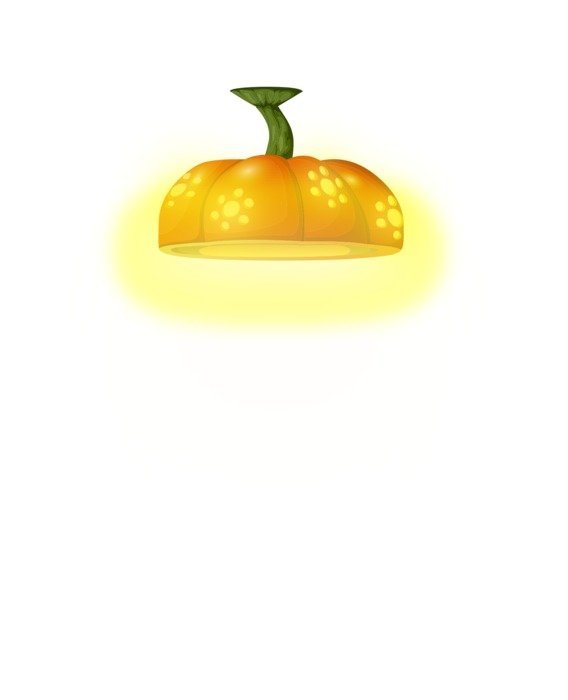 pumpkin form celing light, illustration