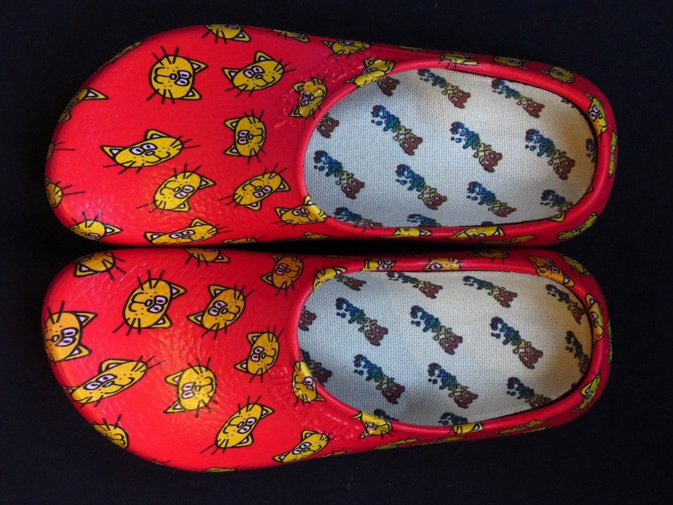 colourful shoe slippers for home