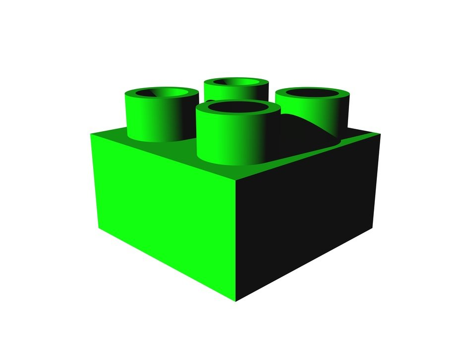 green color brick lego building toy