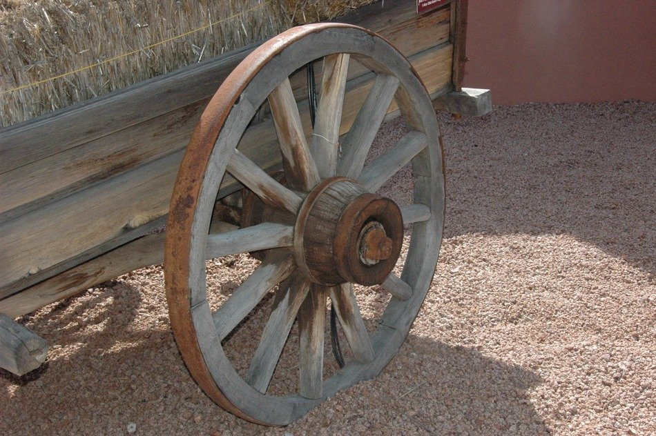 Old rusty wheel, Arizona