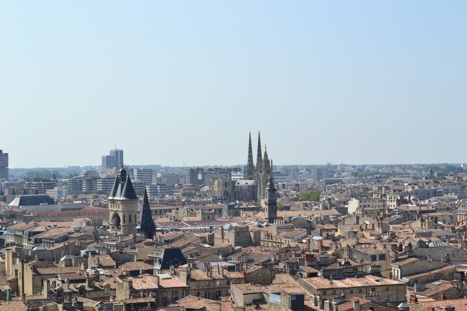 aerial view of city, france, bordeaux