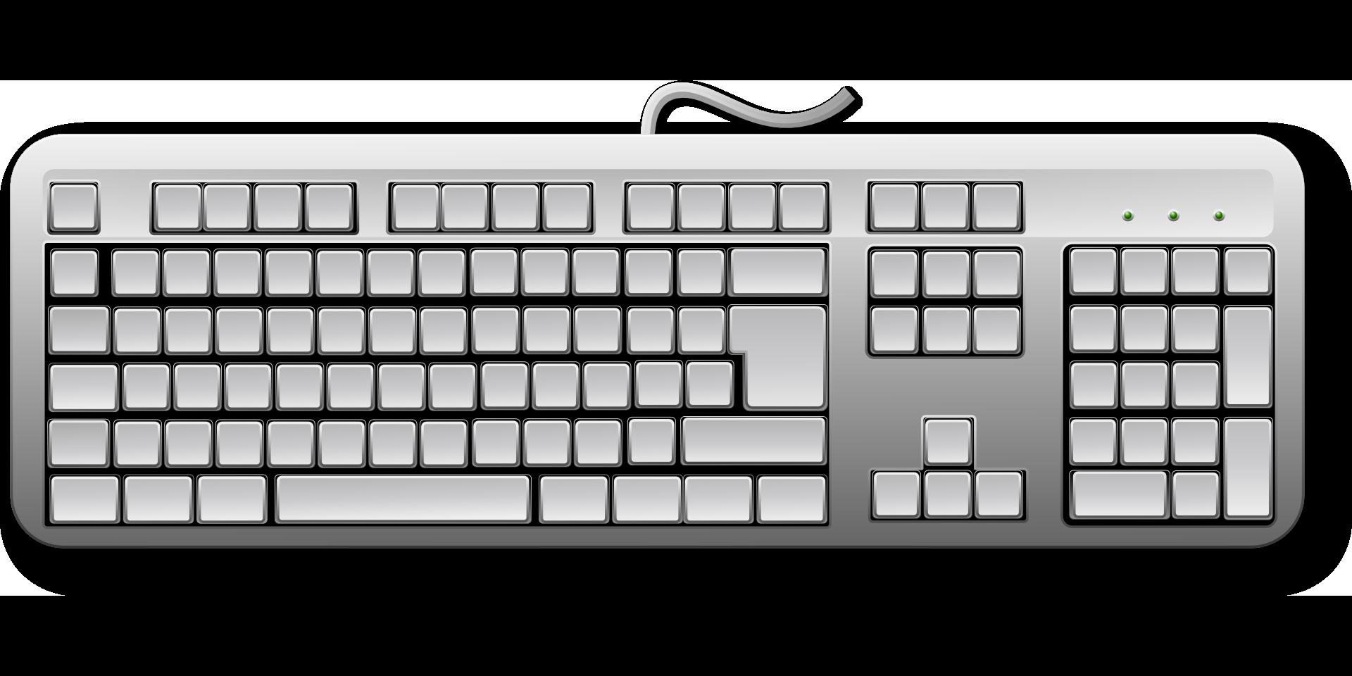 Keyboard Keys Computer Hardware Black White Drawing Free Image