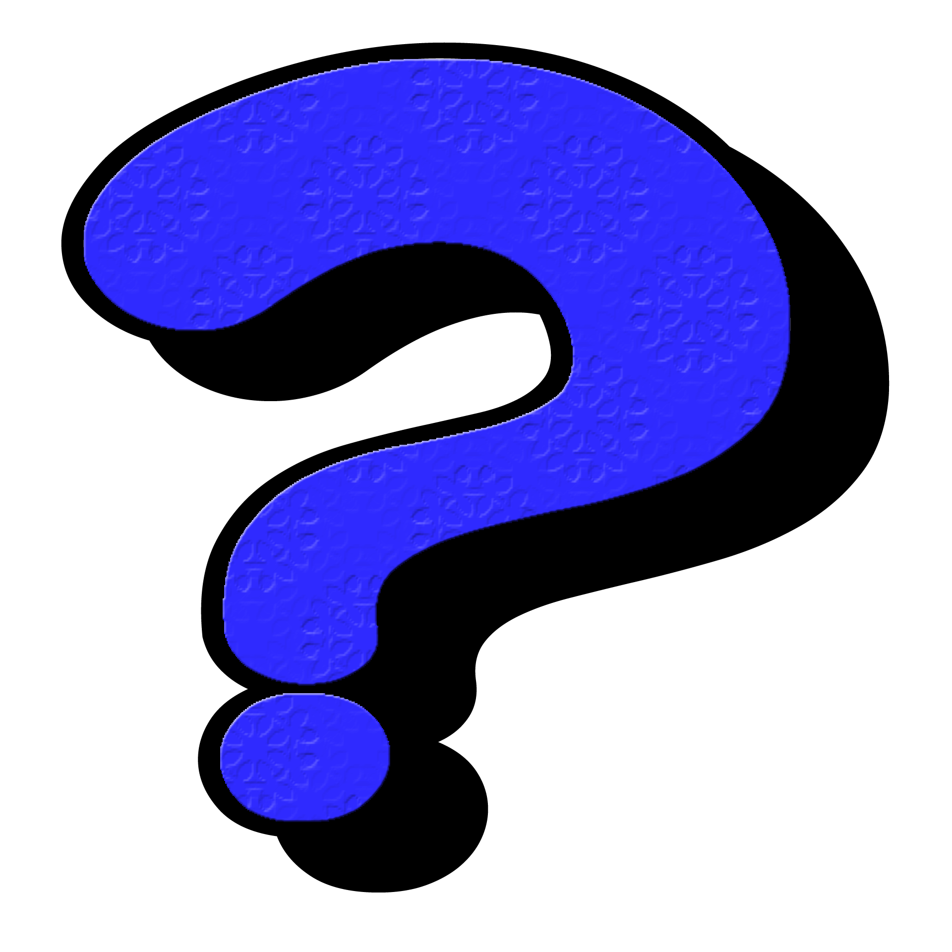 Funny Blue Question Mark Punctuation Symbol Free Image