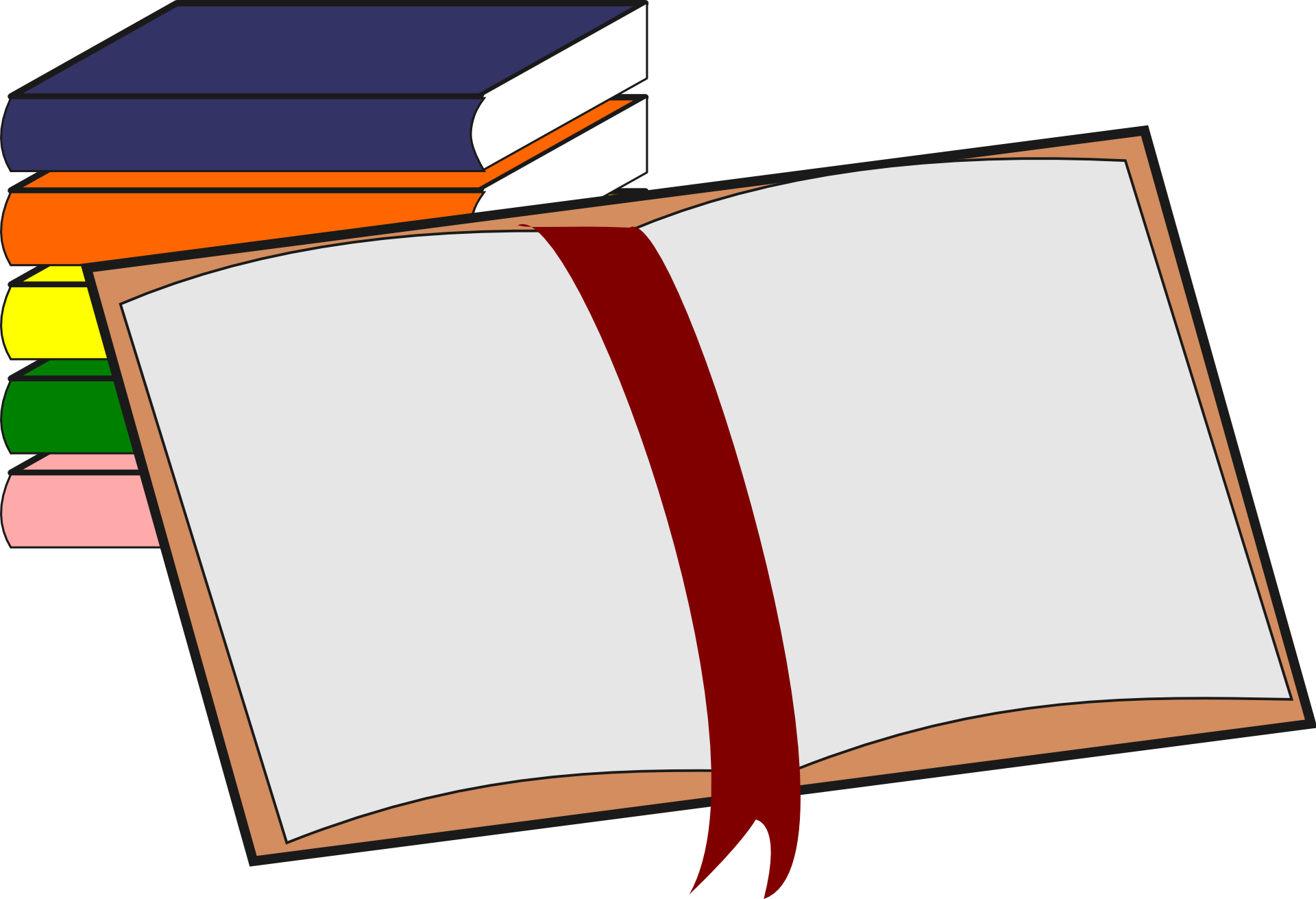 Open book drawing free image