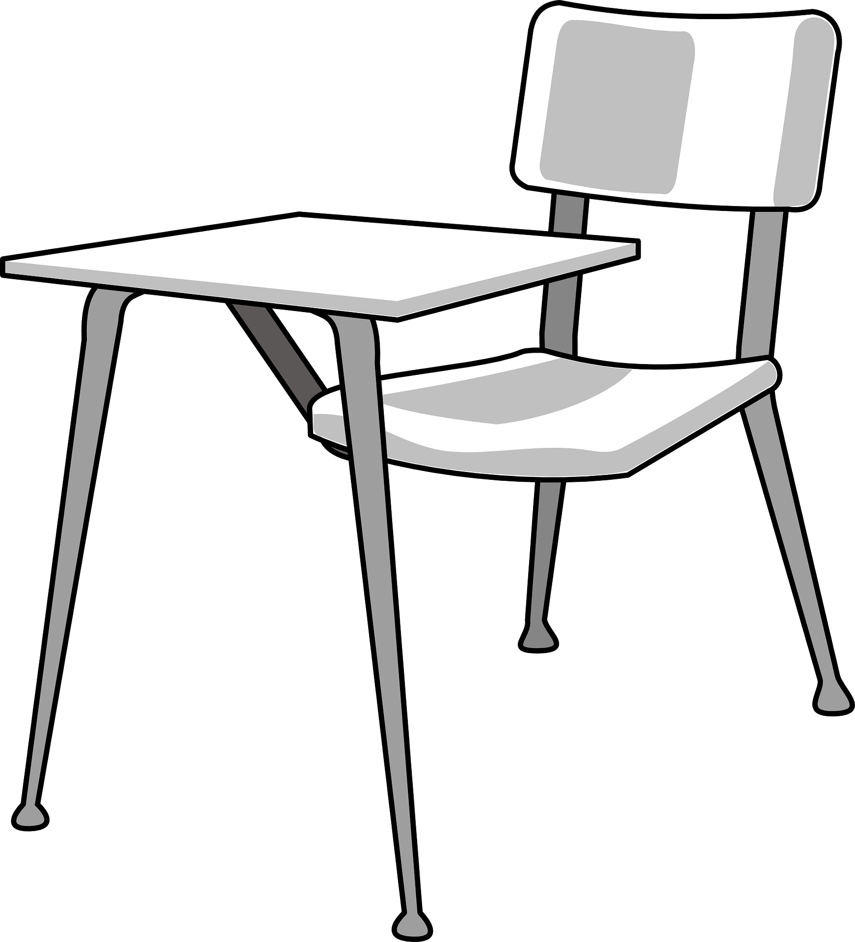 Desk student school chair empty free image