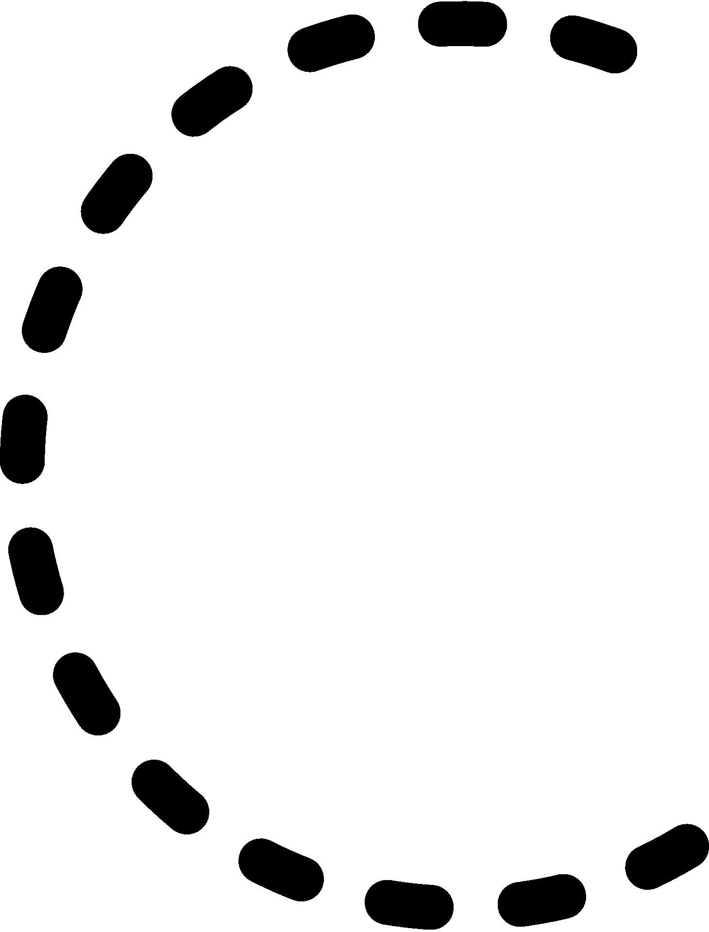 Dashed Line Of Alphabet Letter C Free Image
