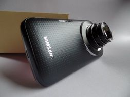 samsung phone with a sliding lens