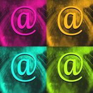 Clipart of Colourful sign e mails