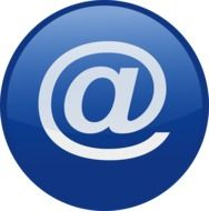 Clipart of email sign