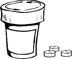 drawn jar for tests and pills