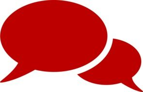 chat symbol bubble red drawing