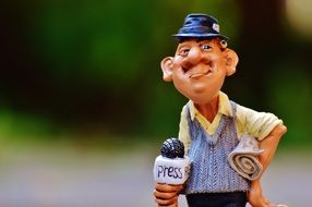 action figure of the journalist