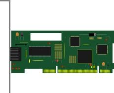 painted green circuit board for computer