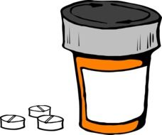 pill bottle medicine drawing