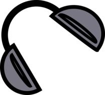 drawn headphones for listening to music