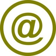 Clipart of email symbol