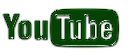 green and white logo of YouTube