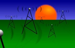 Clipart of communication antennas