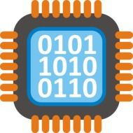 computer chip as a graphic image