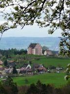Baroque castle on the shore of Lake Constance