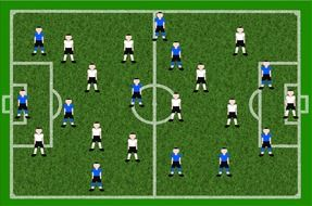 Football players on a playing field