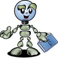 graphic image of artificial intelligence robot