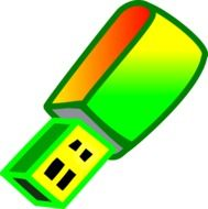 Colorful usb clipart