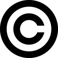 copyright as a pictogram