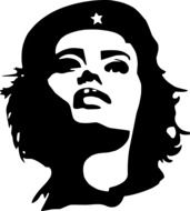 che guevara tania woman drawing