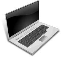 Grey laptop clipart