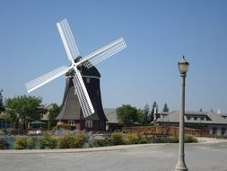 modern windmill at park