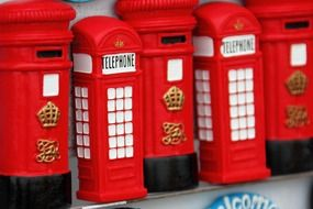 figurines in the form of telephone booths