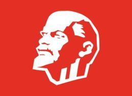 graphic image of Lenin on a red background