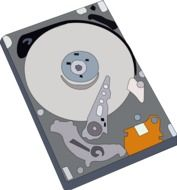 top view hard drive