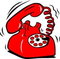 red retro telephone drawing