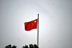 Chinese flag with the stars