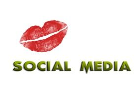 red lips as a symbol of interaction in social media