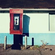 city telephone booth