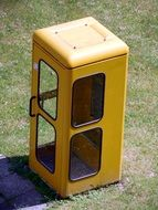 yellow phone booth