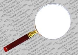 magnifying glass in the search engine