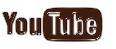brown and white logo of YouTube