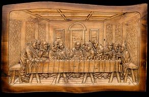 the last supper cenacle drawing