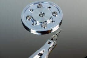 Top view of a brilliant hard drive